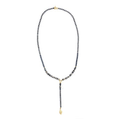 Agate & Crystal Necklace Gold Plated - SEA Smadar Eliasaf