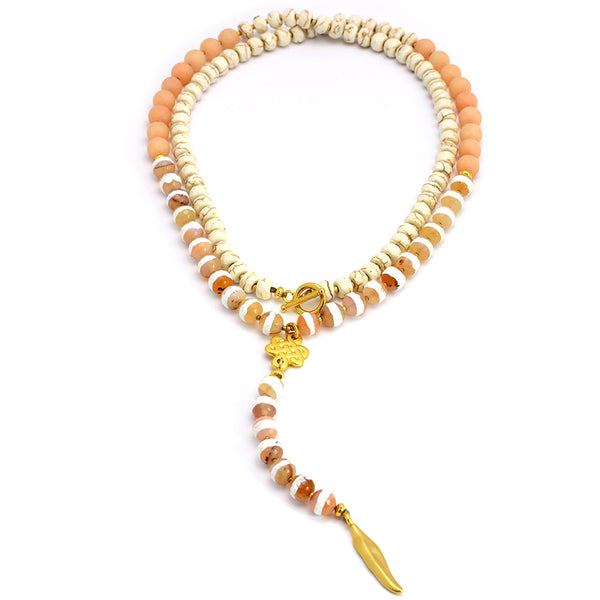 Orange Necklace - SEA Smadar Eliasaf