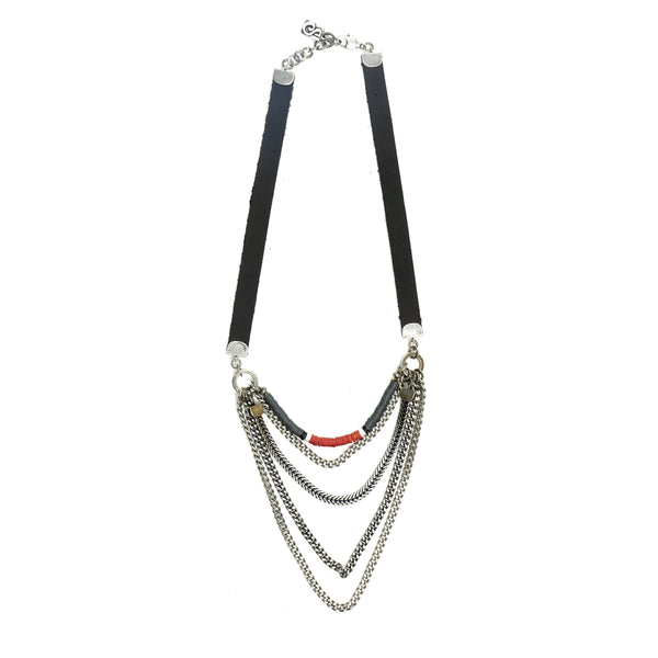 Red Midtown Necklace - Short