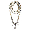 Naturale hue long knitted necklace in