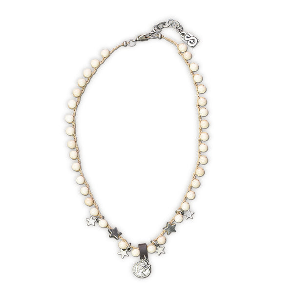 Woven Short Pearl Necklace - SEA Smadar Eliasaf