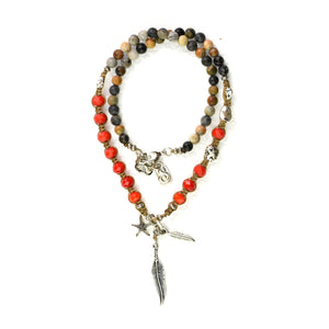 Red Jasper Seychelles Necklace - SEA Smadar Eliasaf