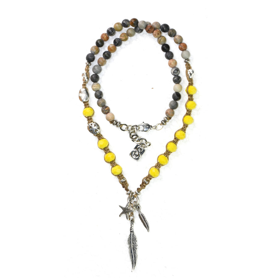 Yellow Jasper Seychelles Necklace - SEA Smadar Eliasaf