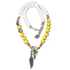 White Yellow Seychelles Necklace