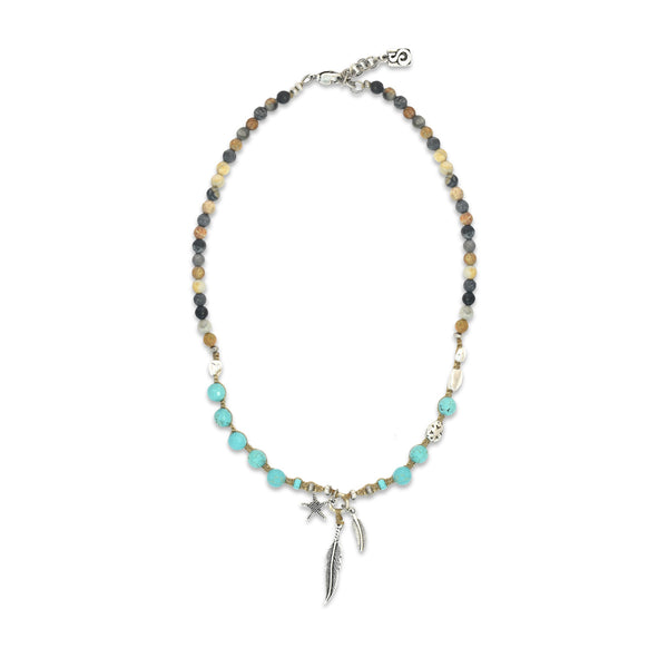 Turquoise Seychelles Necklace - SEA Smadar Eliasaf
