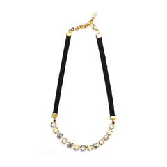 Gold/White Eye Candy Necklace - Half - SEA Smadar Eliasaf