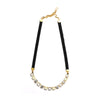 Gold/White Eye Candy Necklace - Half