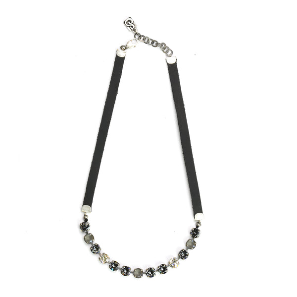 Dark Grey Eye Candy Necklace - Half