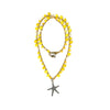 Short knitted Yellow Necklace