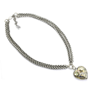 Silver Shade Heart Necklace - SEA Smadar Eliasaf