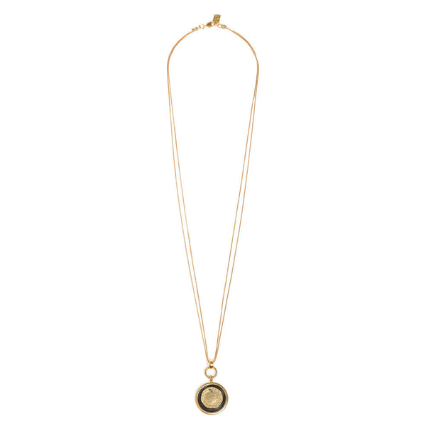 Golden Alexander Necklace with Coin Pendant - SEA Smadar Eliasaf