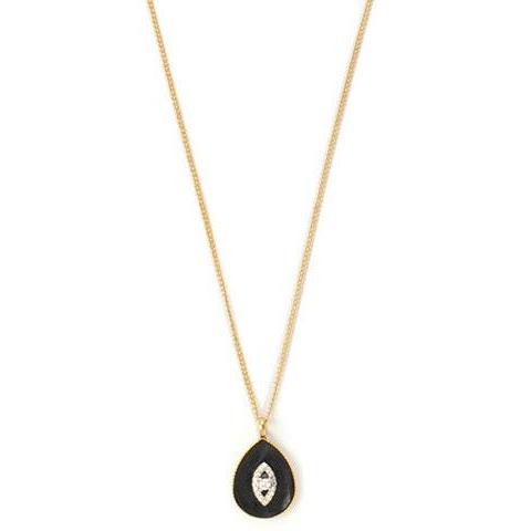 Black Evil Eye Necklace - SEA Smadar Eliasaf