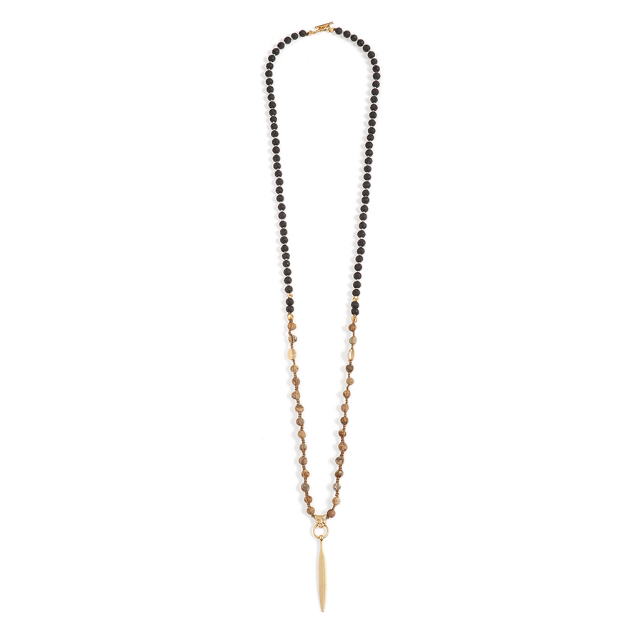 Long Laba Stones Necklace - SEA Smadar Eliasaf