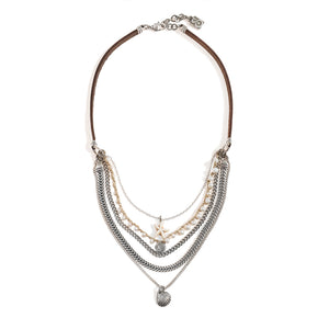 Silver Plated SEA Elements Necklace - SEA Smadar Eliasaf