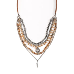 Short Necklace with Tibet Stones Necklace - SEA Smadar Eliasaf