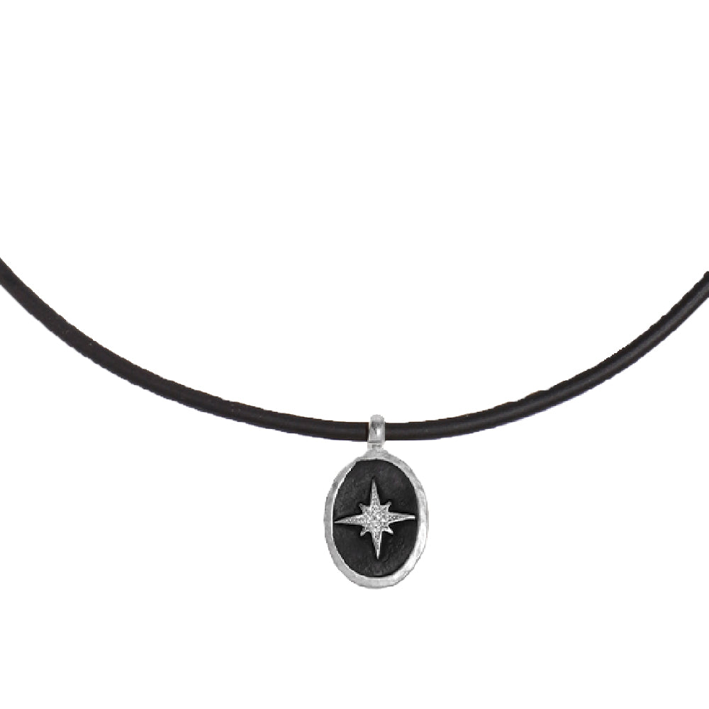 Oval Compass Silicone Necklace - SEA Smadar Eliasaf