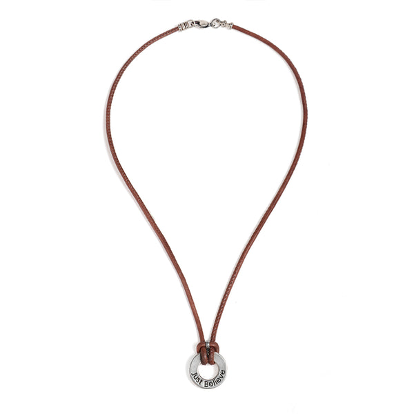 "Brown ""Shema Israel"" Necklace for Men - SEA Smadar Eliasaf"