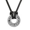 "Black ""Shema Israel"" Necklace for Men"