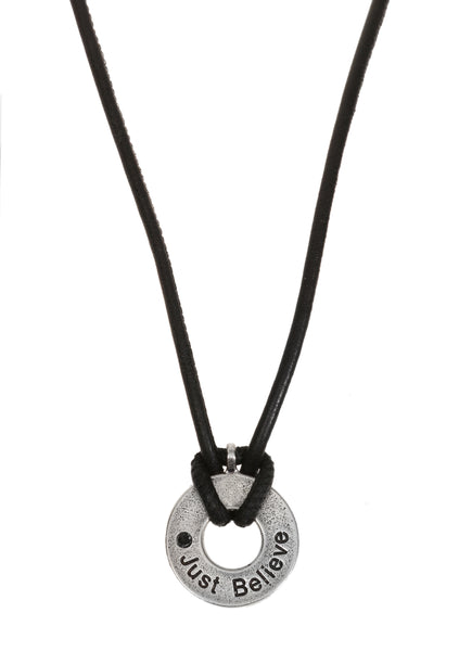 """Just Believe"" Necklace for men - SEA Smadar Eliasaf"