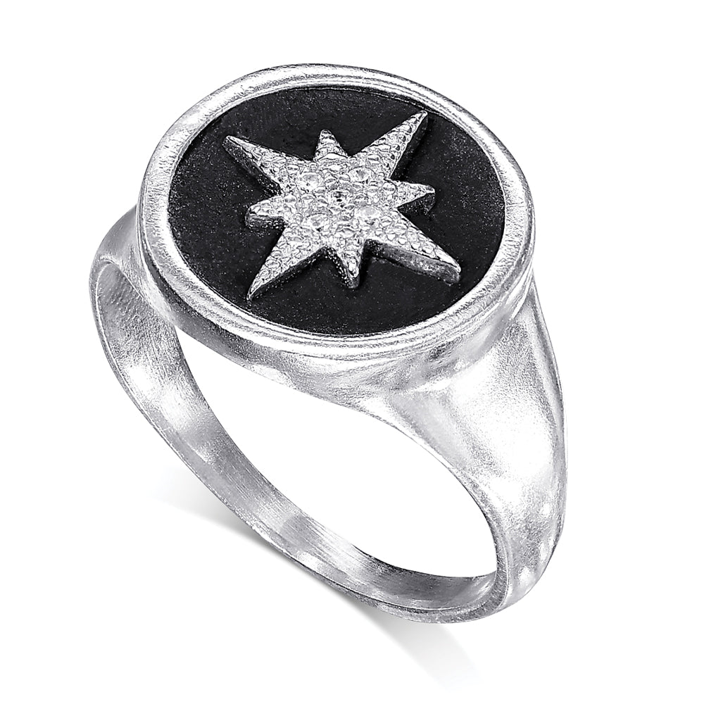 Star Signet Silver Ring - SEA Smadar Eliasaf