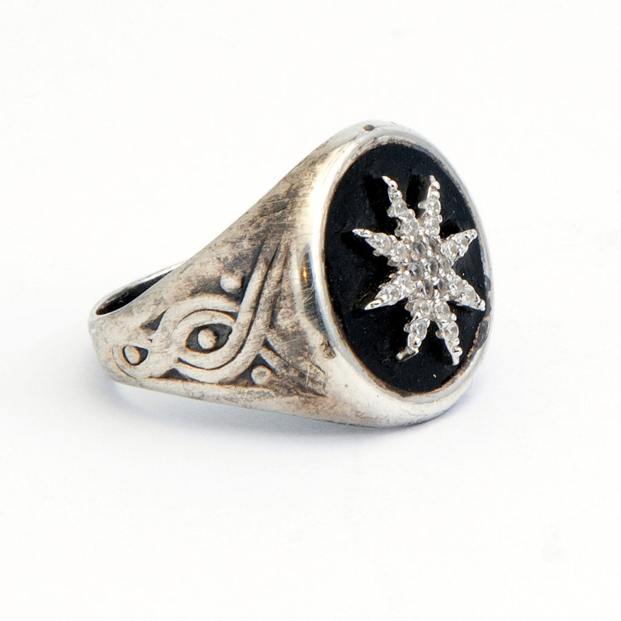 925 Silver Star Signet Ring - SEA Smadar Eliasaf