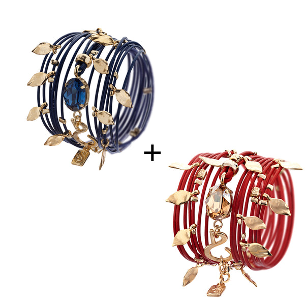 Hot Red & Blue Montana Ivy Bracelets