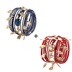 Hot Red & Blue Montana Ivy Bracelets - SEA Smadar Eliasaf