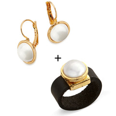 Pearl Set Gold plated - SEA Smadar Eliasaf