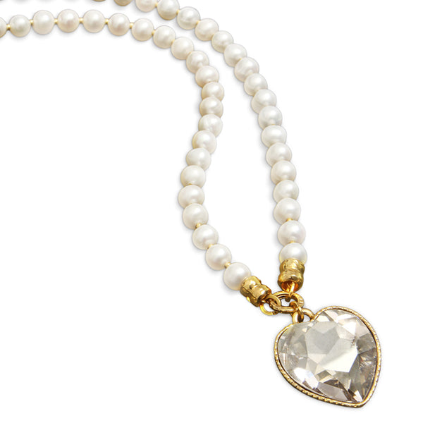Splash Pearls Necklace - Clear