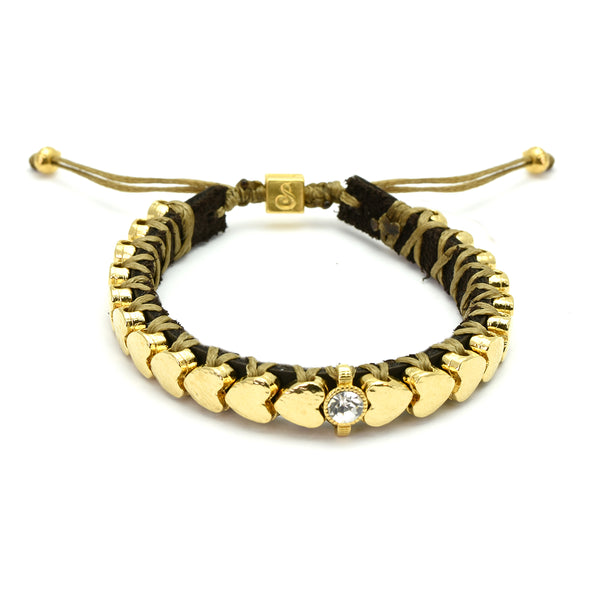 Golden Hearts Bracelet