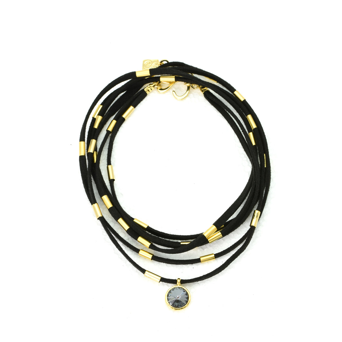 Black Suede Necklace turns into a Bracelet - SEA Smadar Eliasaf