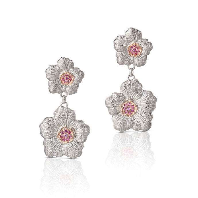 Blossoms Gardenia Pendant Earrings