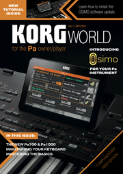 Edition 1 of Korg World Magazine