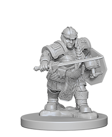 Miniaturas WizKids: Dwarf Female Fighter A - Deposito de Gnomos