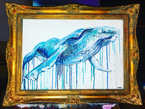 hump back blue whale sophie long