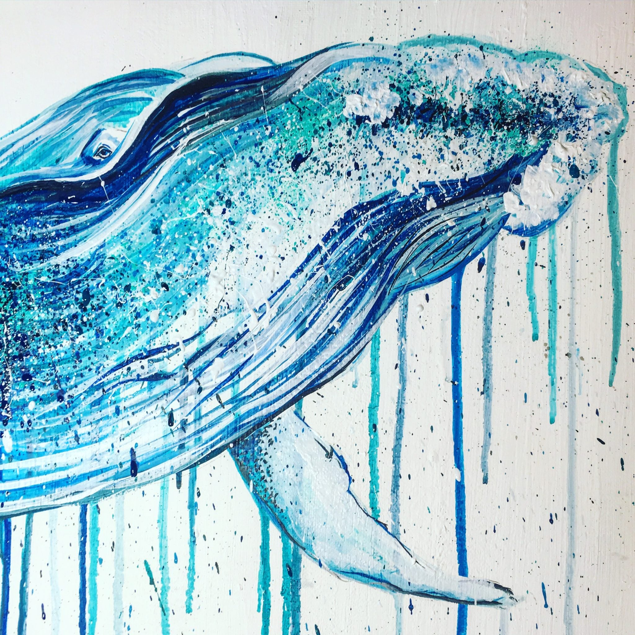 hump back blue whale sophie long art