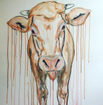 sophie long art cow friesian farm