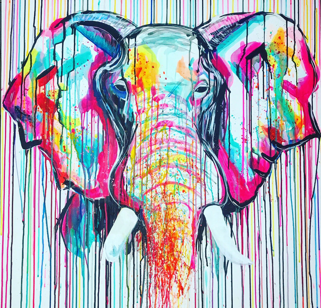 ivory elephant art original sophie long