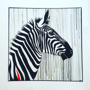 SLIGHTLY DAMAGED – Limited Edition PRINT – THE STRIPED HORSE
