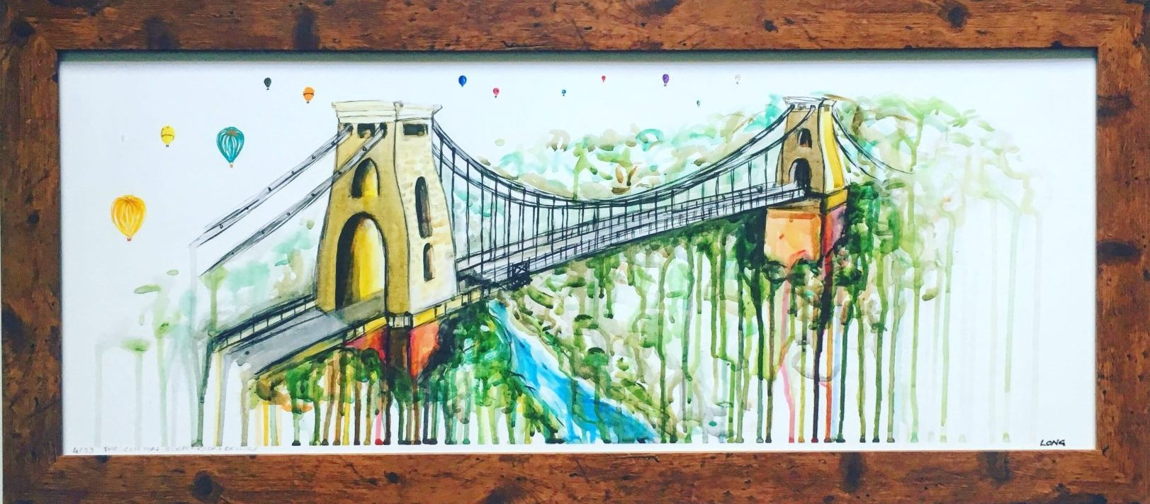 clifton suspension bridge sophie long bristol art framed