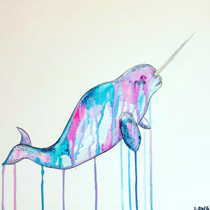 DAY30 #30minuteartchallenge DIAMOND DUST NARWHAL