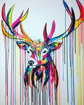 rainbow stag VI stags head sophie long art