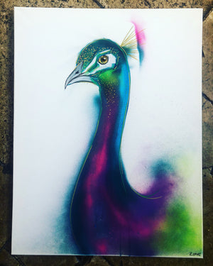 DAY34 #20minuteartchallenge PEACOCK
