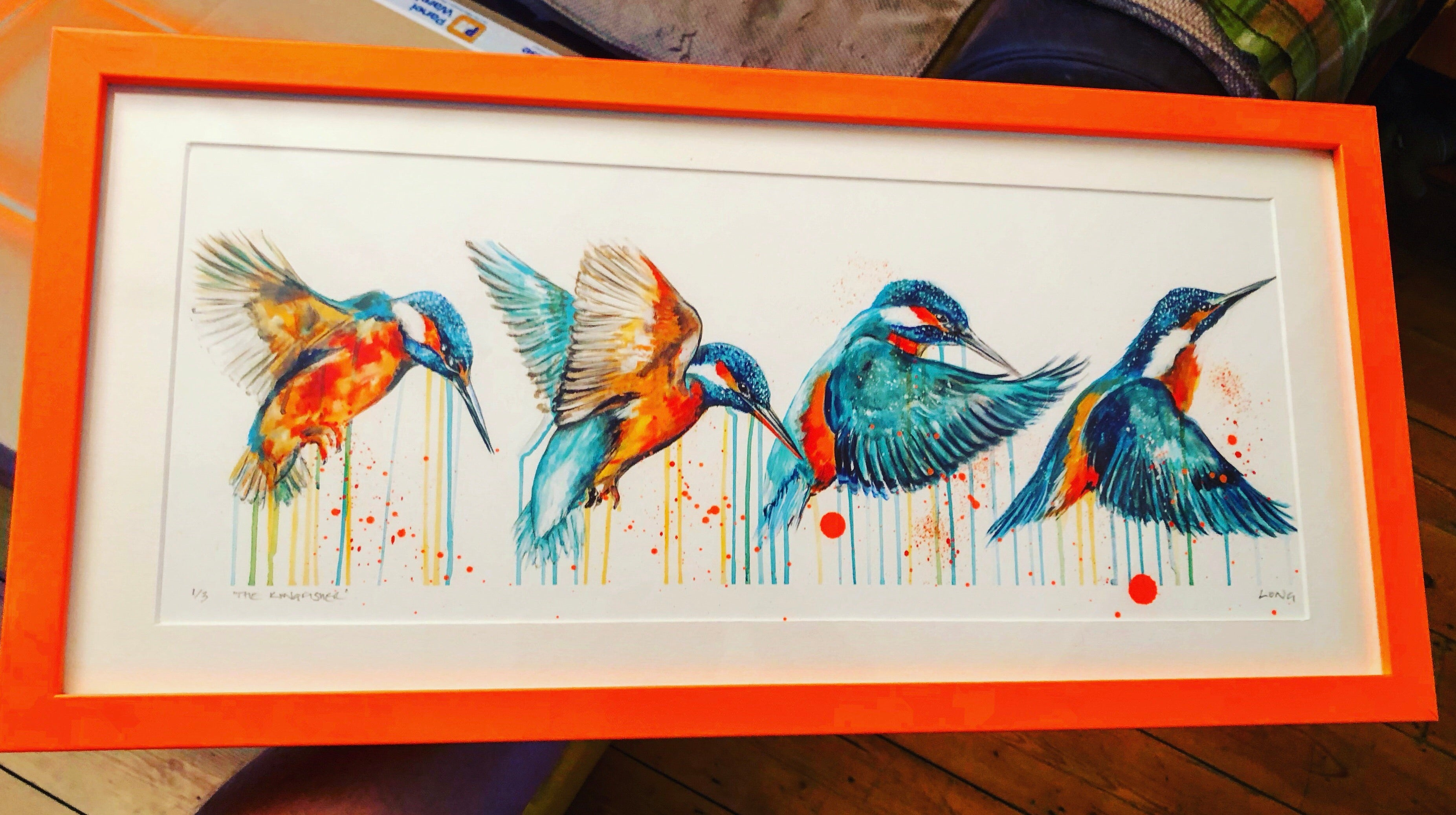LARGE Limited Edition PRINT – IN FLIGHT (Kingfisher)
