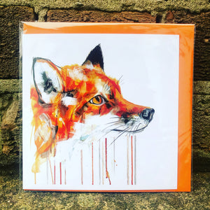 FOX FACE GREETINGS CARD
