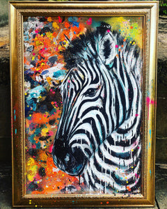 GOLD FRAMED ZEBRA