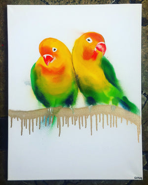 DAY32 #20minuteartchallenge LOVEBIRDS