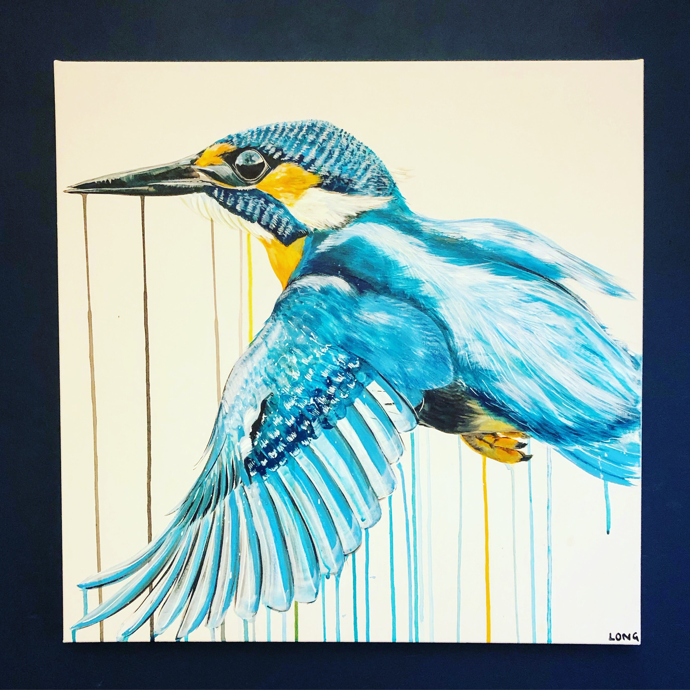 kingfisher bird art sophie long original