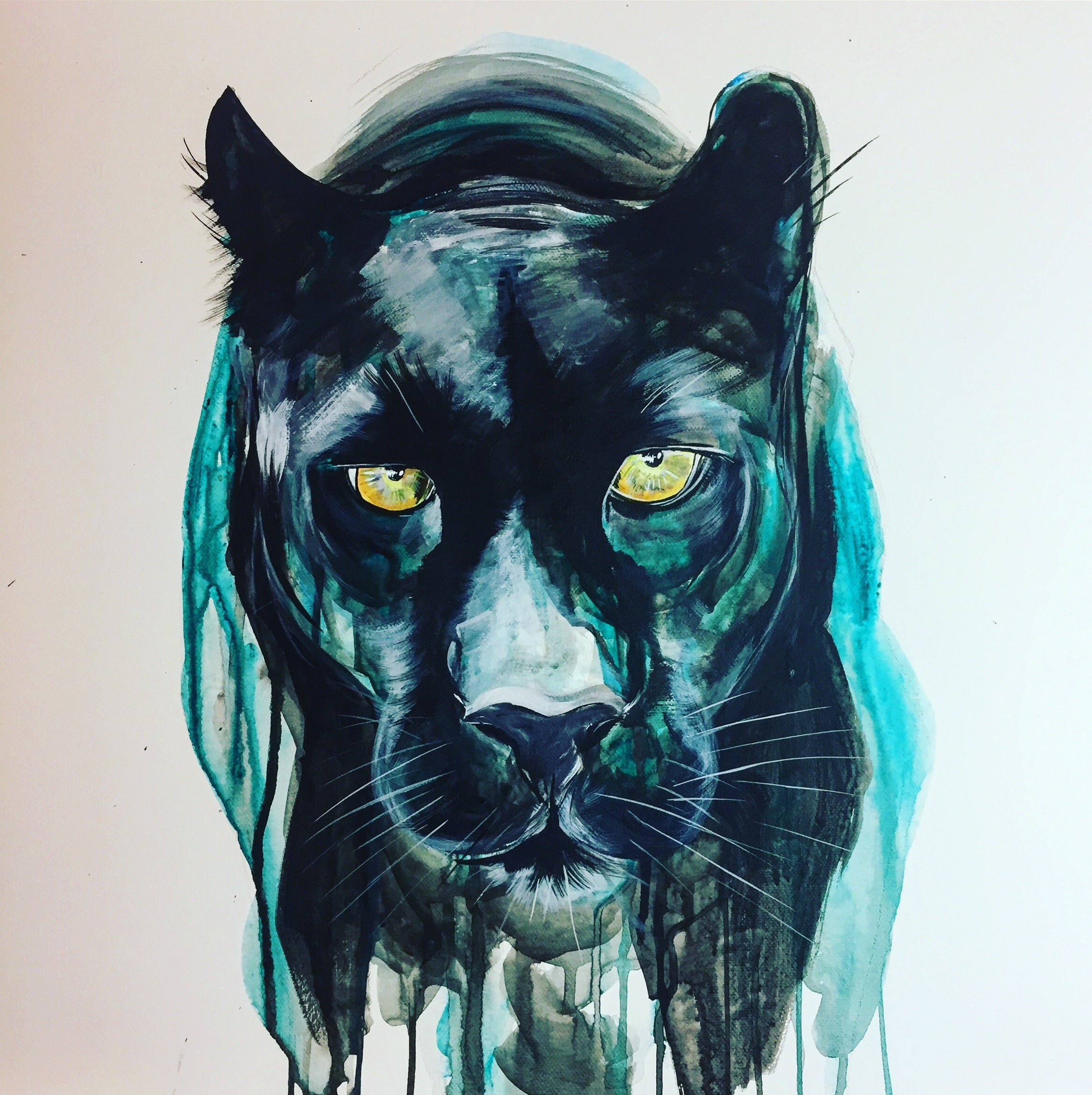 DAY11 #30minuteartchallenge PANTHER