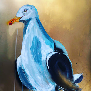 sophie long art seagull painting